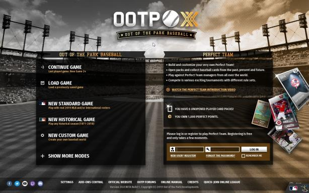 Out of the Park Baseball 20 Update v20 2 33 Torrent Download