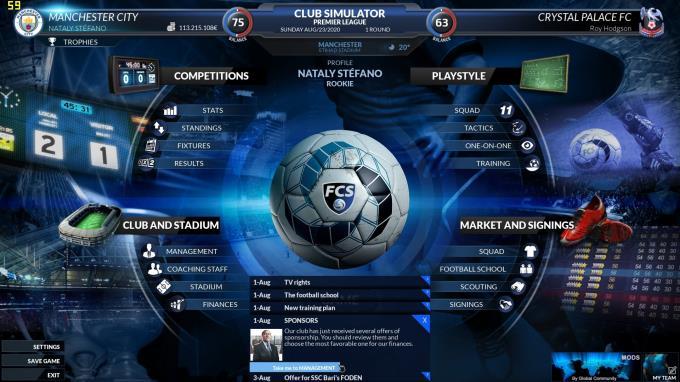 Football Club Simulator FCS 21 PC Crack